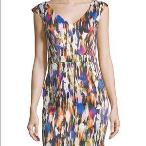 NWT French Connection Streak-Print Sheath Dress